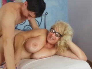 He receives a pair of tits as breakfast!