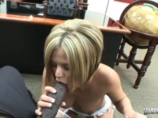 Oklahoma Blonde Girl Nikki Grind Slammed By BBC Lexington Steele!