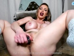Nikki Benz and her Big Boobs and Red Sexy Lips will make you bust quick