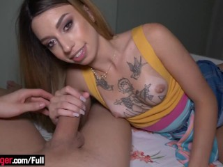 Bubblebutt Brazilian blonde amateur fucked in the ass and loves it