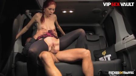 FuckedInTraffic - Kattie Gold Horny Czech Babe Hardcore Pussy Fuck With Kinky Driver