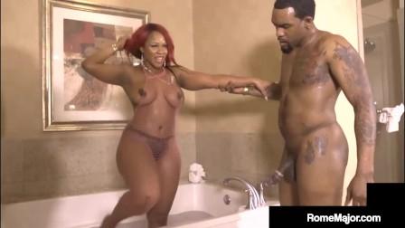 Big Booty Girl Gemini Lovell Cums With Cunt Slamming Big Dick Rome Major!