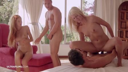 ULTRAFILMS Michelle and Izzy Delphine seduce boys into foursome