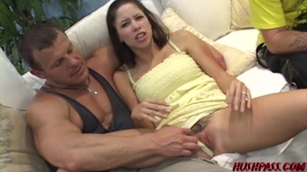 Haley's husband Watches while his Wife gets Banged for Cash