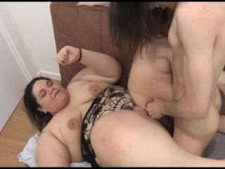 He gets completely WRECKED by the biggest BBW