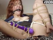 DoeGirls - Margout Darko Saggy Tits Spanish Slut Mind Blowing Orgasms From Tied Up Kink Masturbation