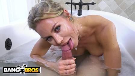 BANGBROS - Bathtime With Super Hot Cougar Nicole Aniston  She s Got Such Nice Big Tits
