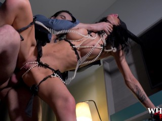 WHORNYFILM- Anal slave getting pounded in her hot lingerie