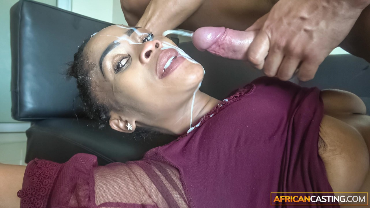 Messy interracial hardcore face fuck and doggystyle sex