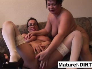 Grannies Fuck With Vegetables Then Offer A Good BJ