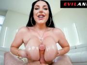 Angela White Gives A Messy POV Titty Fuck & Blowjob - Evil Angel