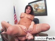 Asian London & Busty Alison Lick Each Other's Pussy