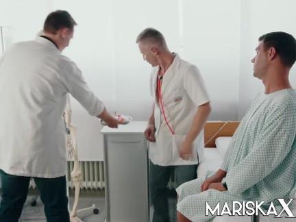 MARISKAX Busty Doctor Dacada fucks her patient and coworkers