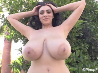 Feels hot watching Luna Amor showing her big pair of melons