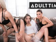 Bachelorette Party Has INSANE Lesbian Three-Way Squirt Session (HOT) - ADULT TIME