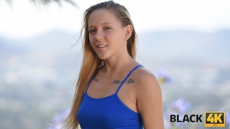 BLACK4K Grounded girls dream comes true when she gets off with a BBC