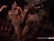 PrivateBlack - Hot Bondage! Brunette Ashley Blue Gets Her Dom 's Dark Dick!