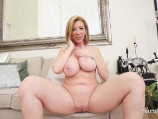 Big Titty Big Ass Cougar Sara Jay Leaks Her Girly Glaze While Masturbating!