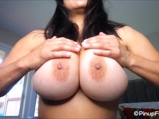 Monica Mendez on webcam saying Anniversary greetings for Pinupfiles