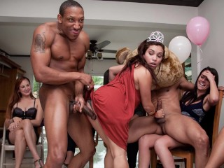 DANCINGBEAR – Horny Sluts Including Victoria Love & Ashton Star Lining Up For A Powerful Dicking