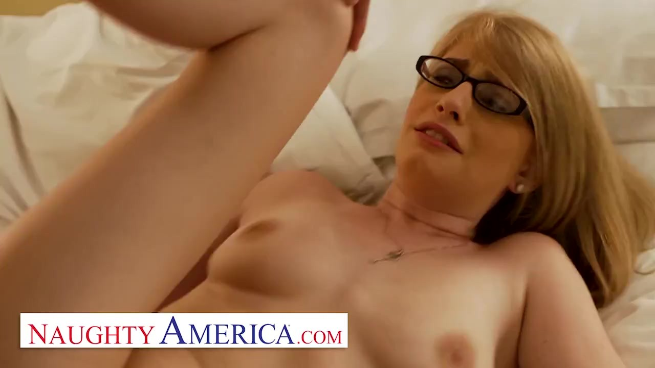Naughty America - Allie james takes care of her sugar daddy the way she kno ...