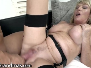 MILF Granny Devours Stud's Cock With Ease