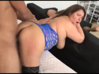 BUSTY MILF wants her husband to see her anal drilling