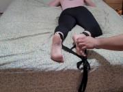 bondage tied down teen tickle torture
