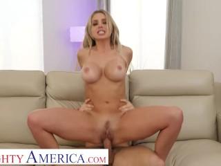 Naughty America – Madelyn Monroe rides the neighbor's cock