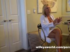 Sexy Blonde Doctor Works Massive BBC & Slurps Up Jizz