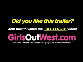GirlsOutWest – Three naughty babes have lesbian sex in the backyard