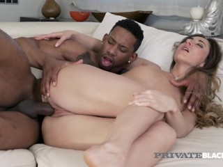 PrivateBlack – Brunette Aruna Aghora Shares A Vacation House With A BBC!