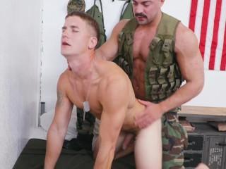 Soldiers Alex James & Brandon Anderson Fuck Hard
