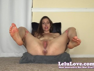 Nude babe in red lipstick talks filthy to YOU spreads pussy cunt and asshole & licking armpits barefoot feet JOI - Lelu Love