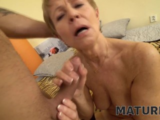 MATURE4K Mature maid dragged into sex with handsome and horny client