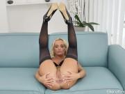 Sexy Blonde Czech Slut Victoria Pure Fucks Herself In The Ass