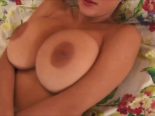 Valory Fleur loves to tease topless showing her enormous tits