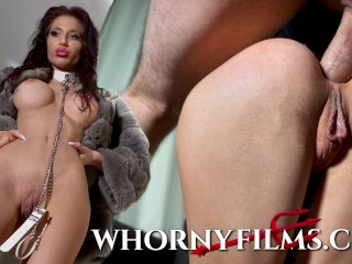 Skinny big tits babe gets her ass filled with cum after a rough ass fuck -WHORNY FILMS