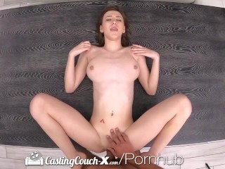 CASTINGCOUCH-X Brunette Pussy Pounded By Agent