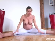 Pregnant Nicole Exercises, Then Shows You Her Tight Pink Pussy!