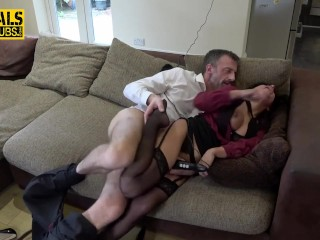 Submissive milf in stockings gets fucked hard by Pascal White