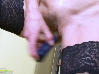 OLDNANNY Horny mature lady got a taste for little adventure