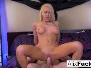 Alix Lynx drains Brad's cock