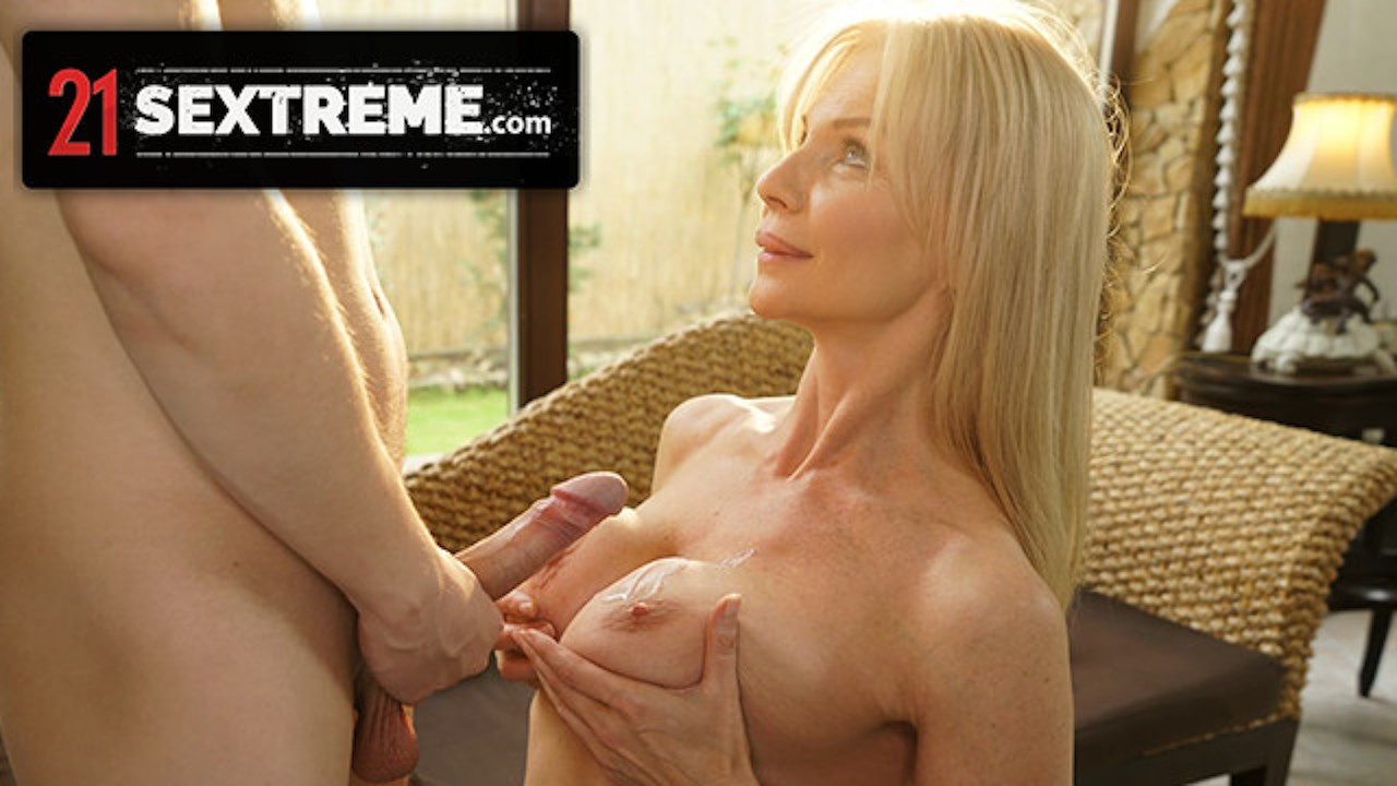 Nikki Busts A Nut All Over His Busty MILF Nanny's Tits