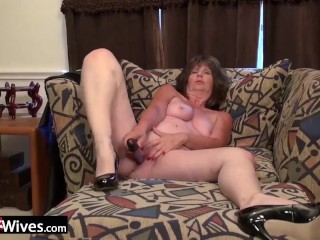 USAWIVES Horny matures compilation with electric sex toys