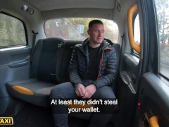 Female Fake Taxi Her Big heavy tits bouncing as she fucks customer in taxi