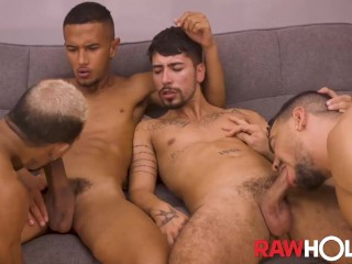 Hung Latin Men Bareback In Wild Group