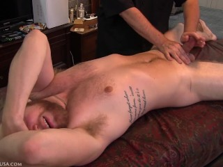 Jesse's face throughout the shoot, both face up and face down reveals how much he loves anal penetration.