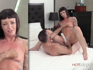 Sexy Milf Charlie Valentine Debut Casting Video Fingered and Fucked Hardcore by Big Dick Dude and Eats Cum