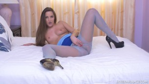 Bubble Butt Amirah Adara Loves The Feel Of Her Pussy In Pantyhose Tights